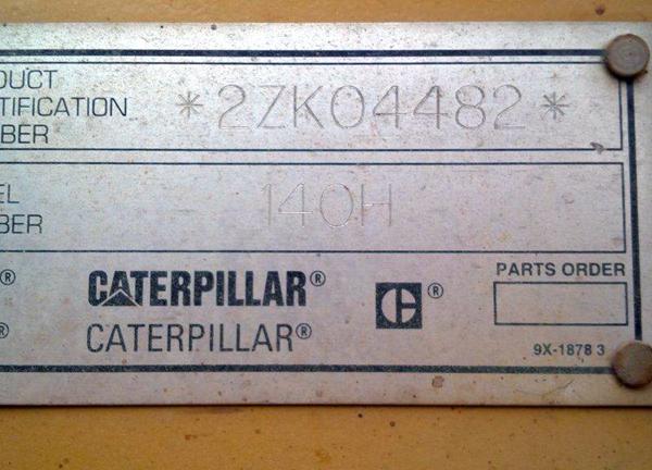 Cat 140H 2ZK04482