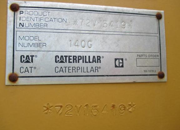 Cat 140G 72V15419