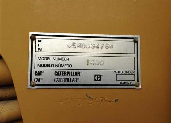 Cat 140G 5MD03476