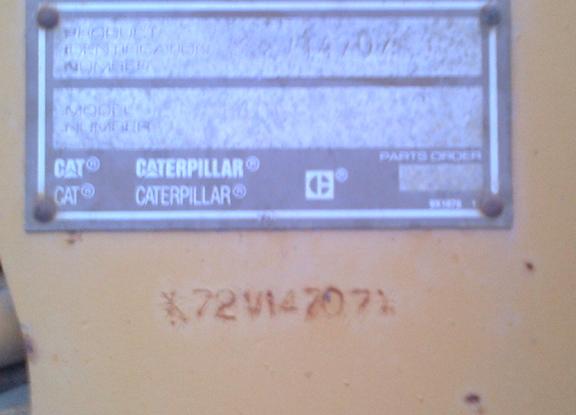 Cat 140G-VHP 72V14707