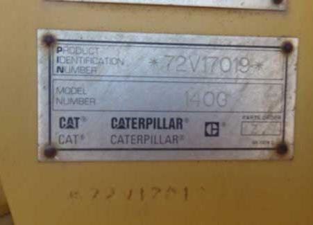 Cat 140G 72V17019