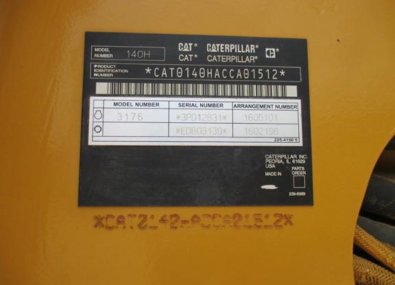 Caterpillar 140H CCA1512