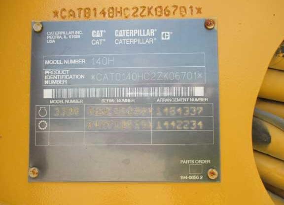 Caterpillar 140H 2ZK06701