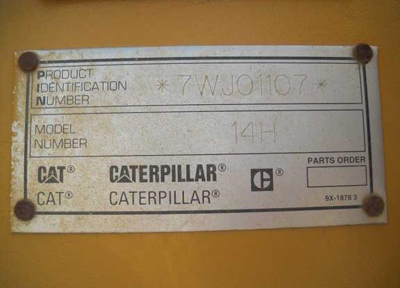 Cat 14H 7WJ01107