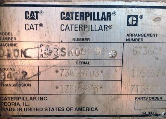 Cat D10N 3SK0899