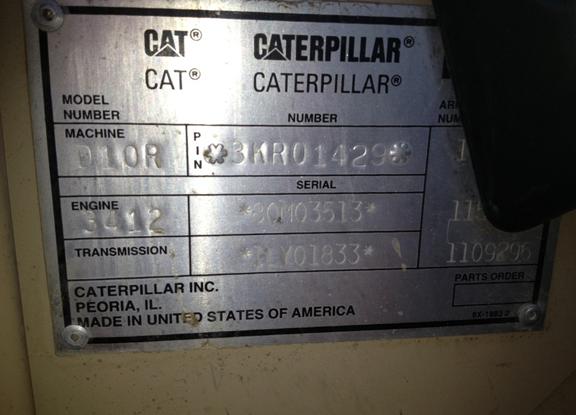 Cat D10R 3KR01429