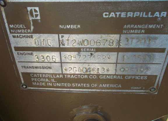 Cat D7G 72W00678