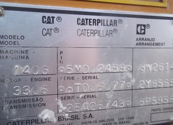 Cat 140G 5MD02459