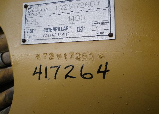 Cat 140G 72V17260