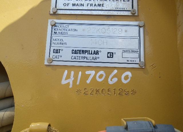 Cat 140H 2ZK05129