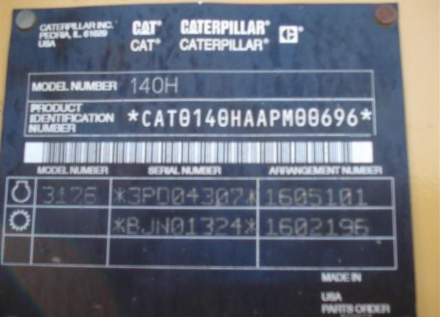 Cat 140H APM00696