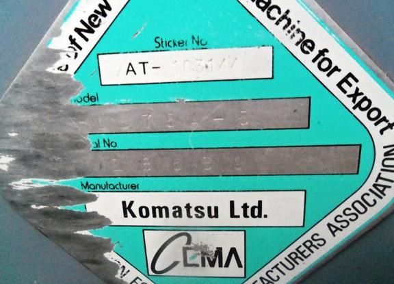 Komatsu D375A-5 18639