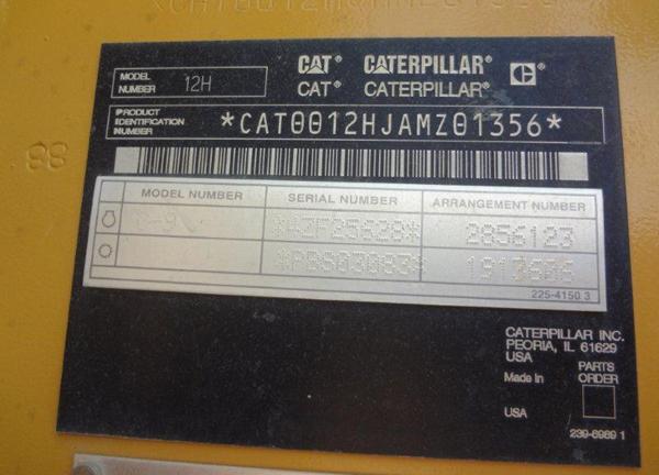 Cat 12H AMZ01356
