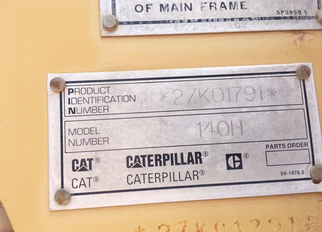 Caterpillar 140H-VHP 2ZK01791