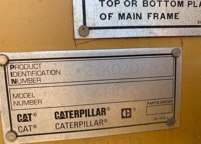 Caterpillar 140H 2ZK02071