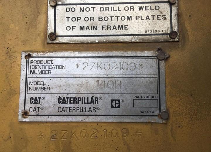 Caterpillar 140H 2ZK02109