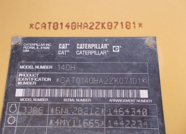 Caterpillar 140H 2ZK07101