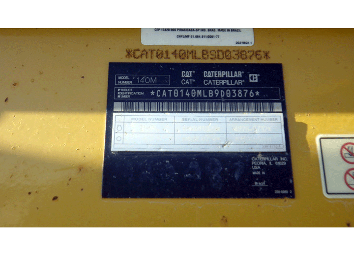 Caterpillar 140M B9D03876