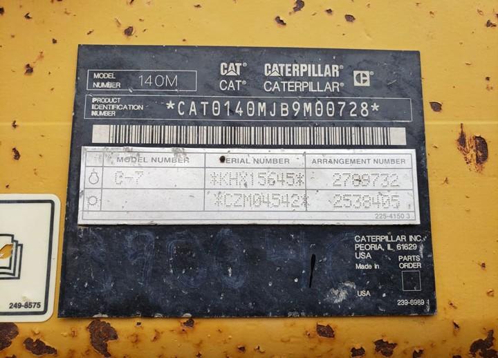 Caterpillar 140M B9M00728