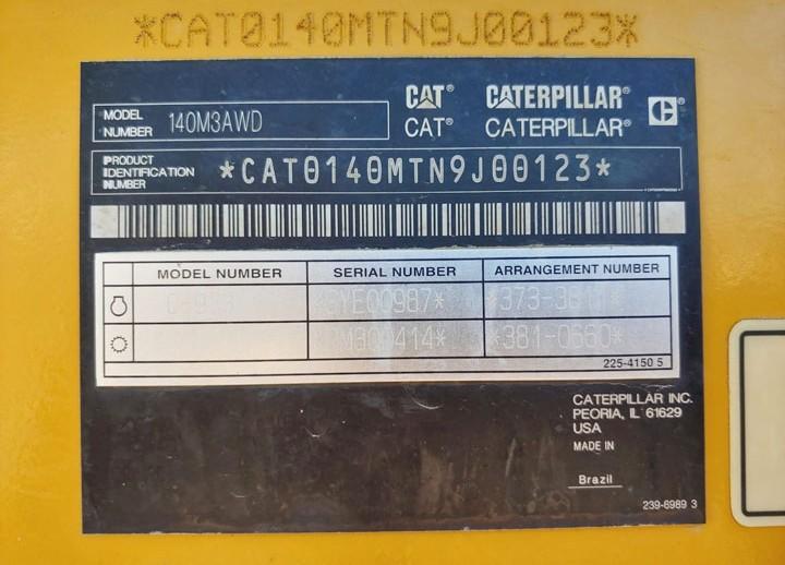 Caterpillar 140M3 N9J00123
