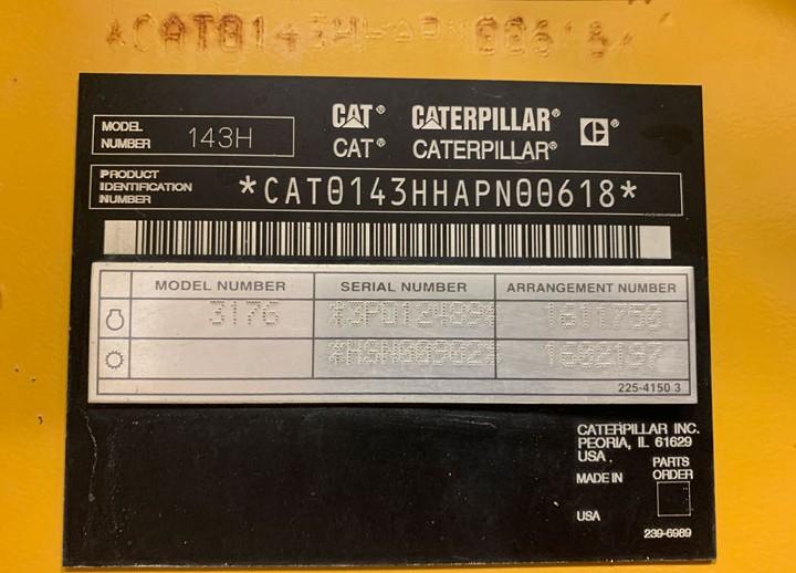 Caterpillar 143H APN00618