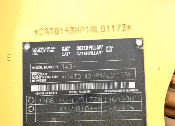 Caterpillar 143H P1AL01173