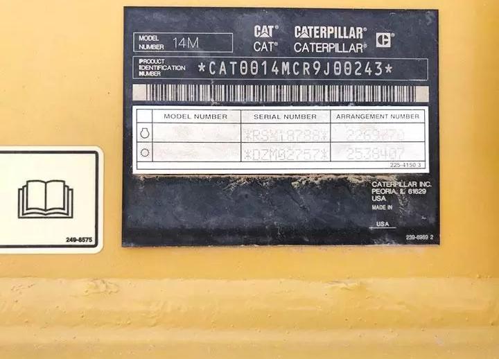 Caterpillar 14M R9J00243