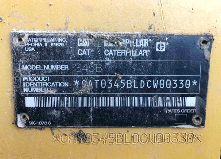 Caterpillar 345BL DCW00330