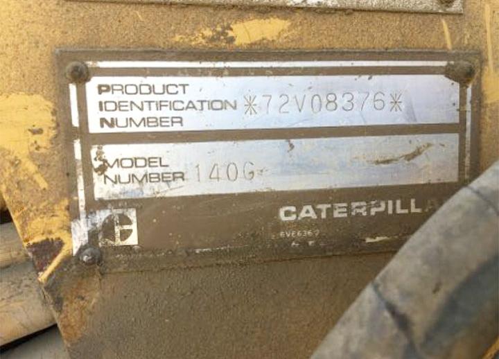 Caterpillar 140G 072V08376