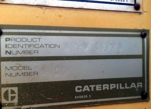 Cat 140G 72V10177
