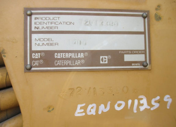 Cat 140G 72V1339