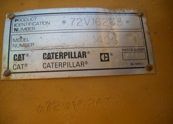 Cat 140G 72V16263
