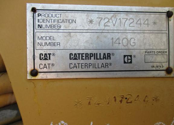 Cat 140G 72V17244