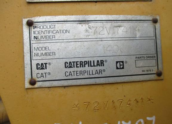 Cat 140G 72V17411