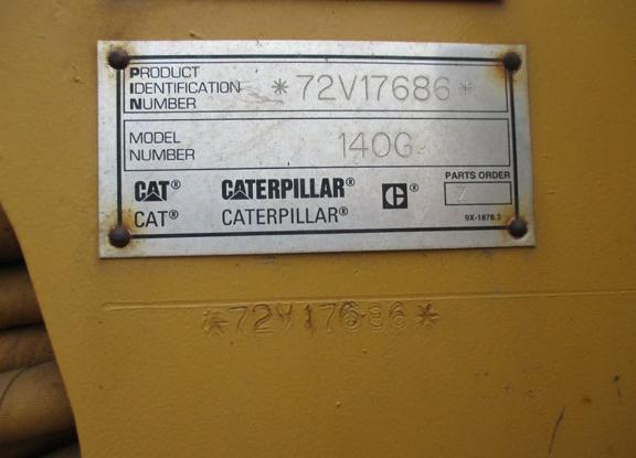 Cat 140G 72V17686