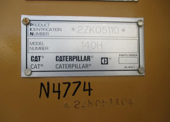 Cat 140H 2ZK05110