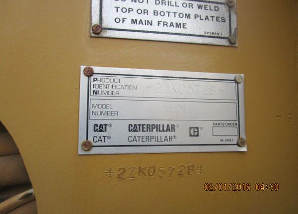 CAT 140H 2ZK05728