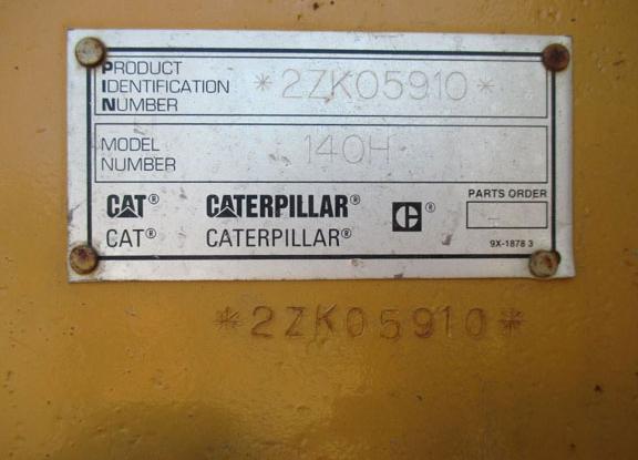 Cat 140H 2ZK05910