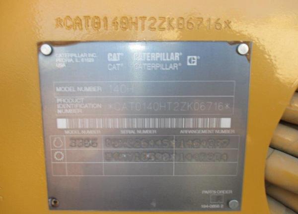 Cat 140H 2ZK06716