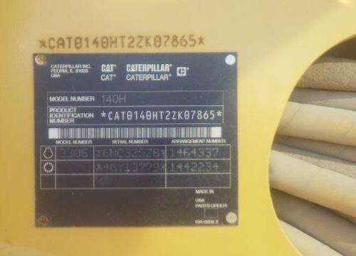 Caterpillar 140H 2ZK07865