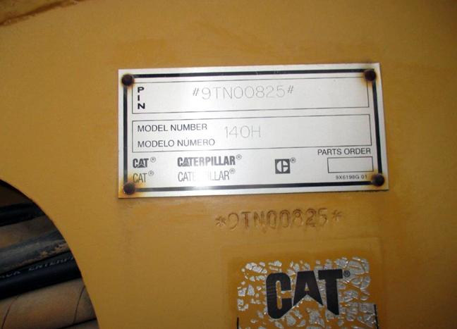 Cat 140H 9TN00825