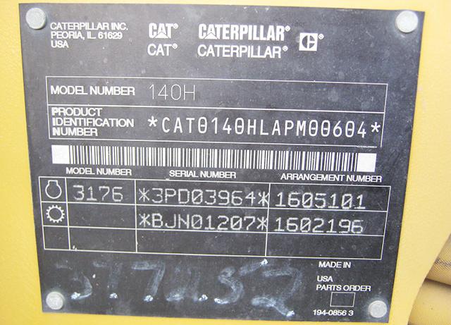 Caterpillar 140H APM00604