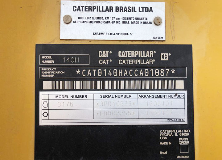 Caterpillar 140H CCA01087