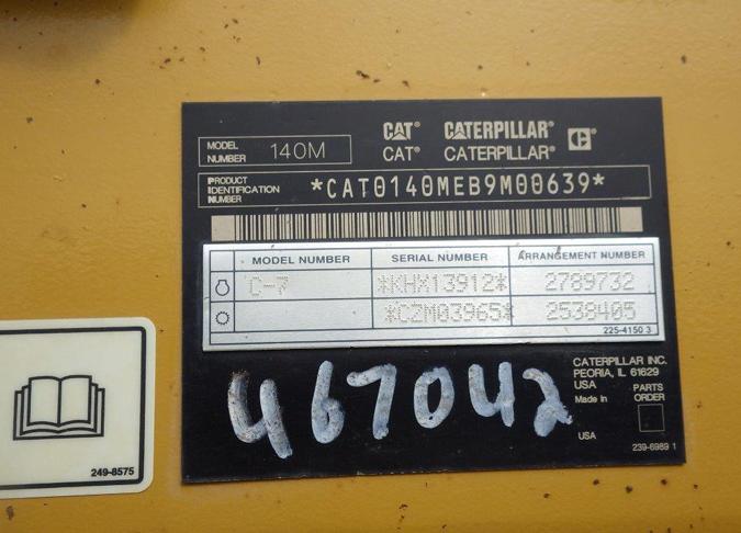 Cat 140M B9M00639