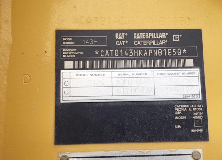 Caterpillar 143H APN01050