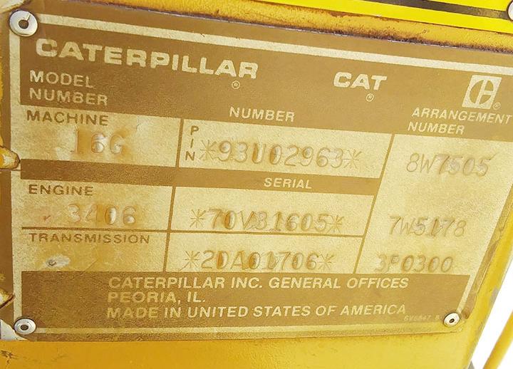 Caterpillar 16G 93U02963