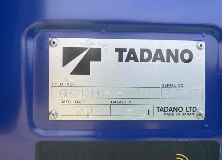 Tadano GR-1000XL-2 XXX
