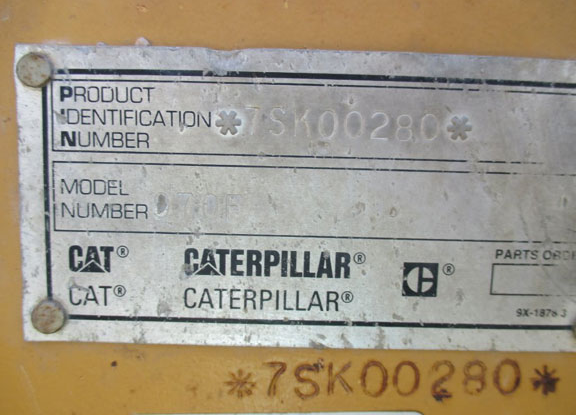 Cat 970F 7SK00280