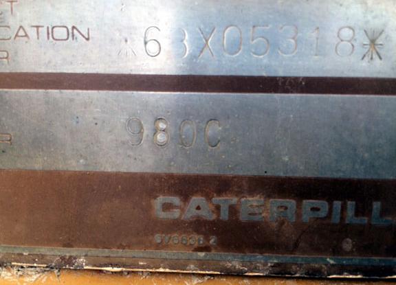 Cat 980C 63X05318